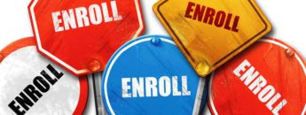 "Street signs that say ""enroll"""