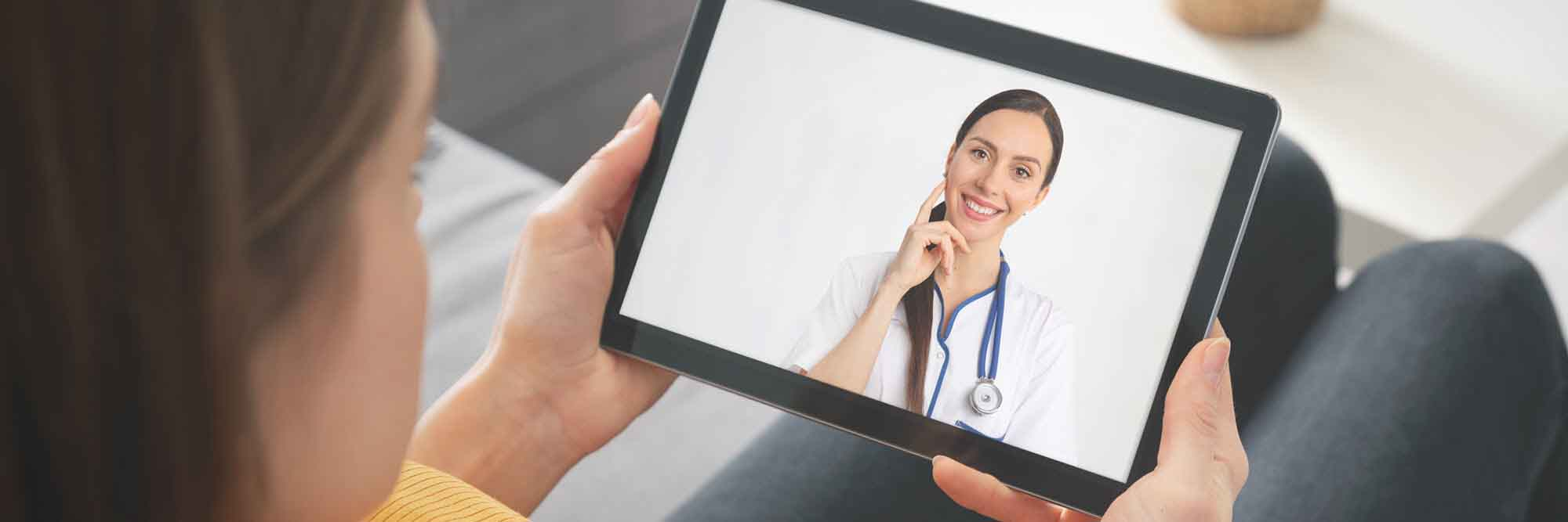patient using telemedicine services